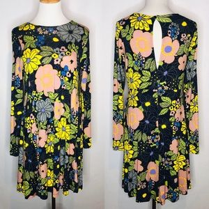 ASOS Floral Long Sleeve Dress with Keyhole Back 6